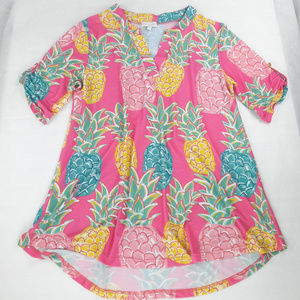 Simply Southern Tunic Medium Pineapple Coastal